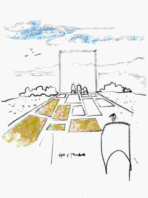 Bondi memorial proposal by Aspect Studios.