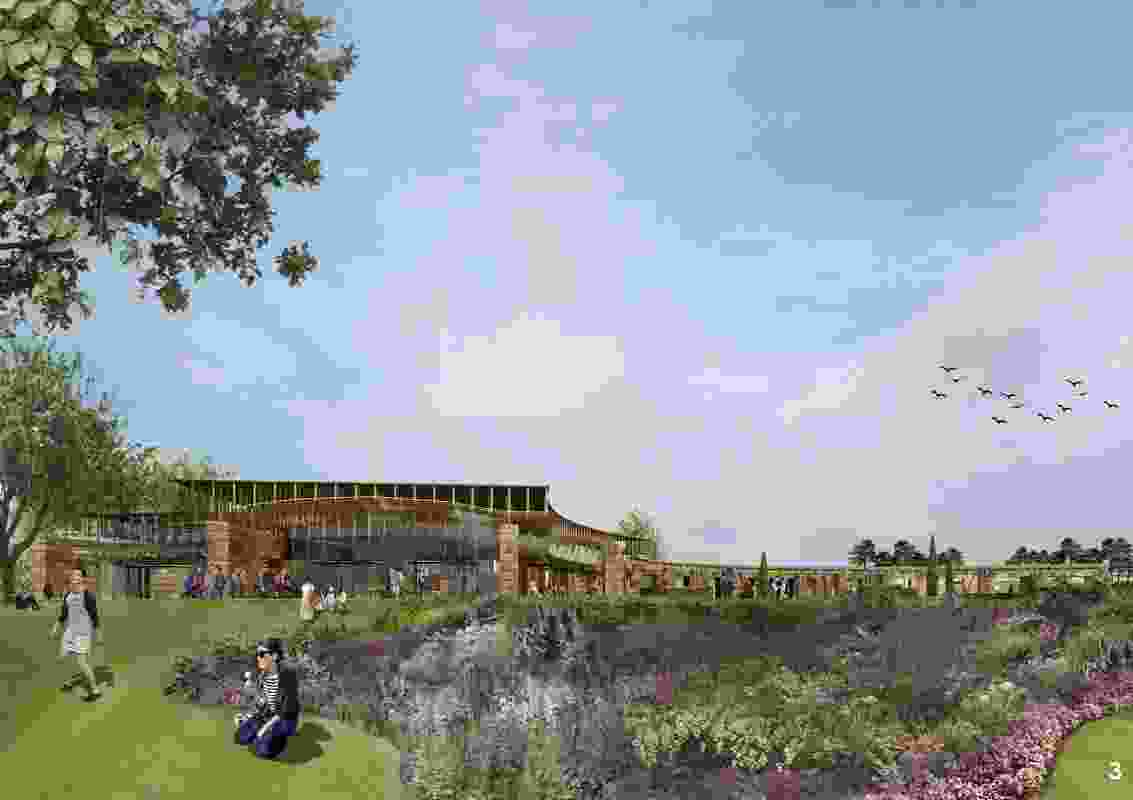 Tonkin Zulaikha Greer's proposal for the Southern Highlands Botanic Gardens visitor centre.