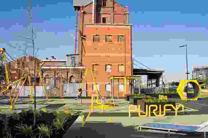 Port Adelaide Renewal: Hart's Mill Surrounds (SA) by Aspect Studios, Mulloway Studio and Renewal SA.
