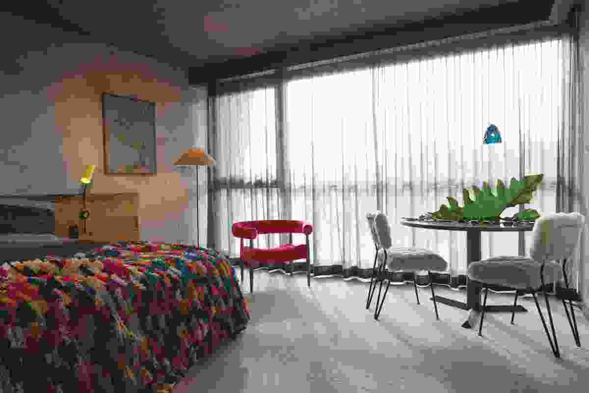 The hotel rooms are intended as a re-imagination of the Australian shack. Artwork: Mariana Del Castillo.