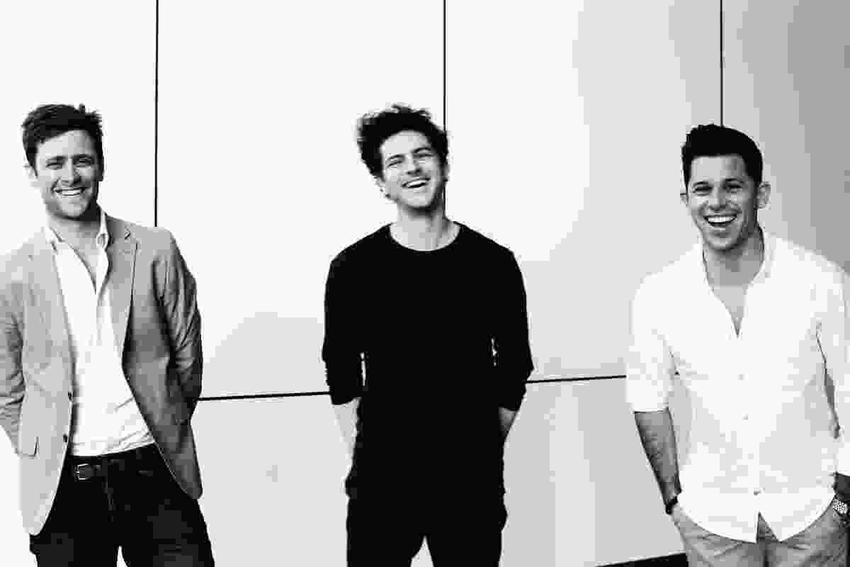 NOMI creators Michael Grassi, Tomek Archer (centre) and Henry Gresson.