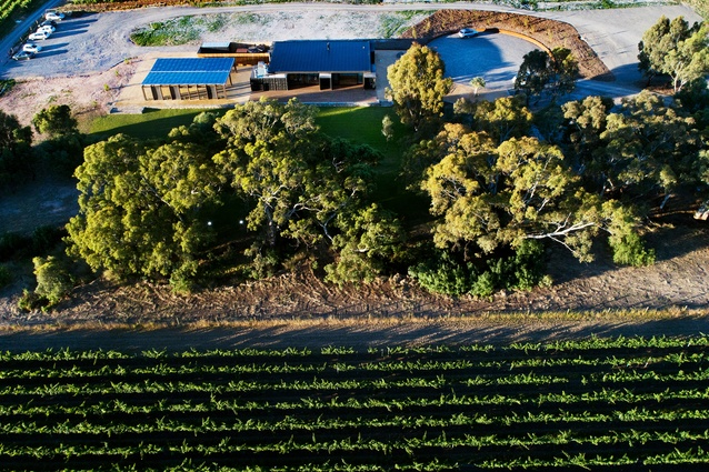 The Mitolo Wines Cellar Door and Restaurant by Tectvs, located in South Australia's McLaren Vale wine region.