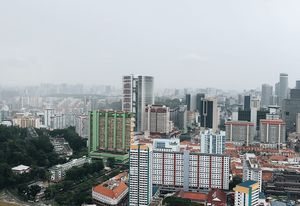 The view from the top of Pinnacle at Duxton.