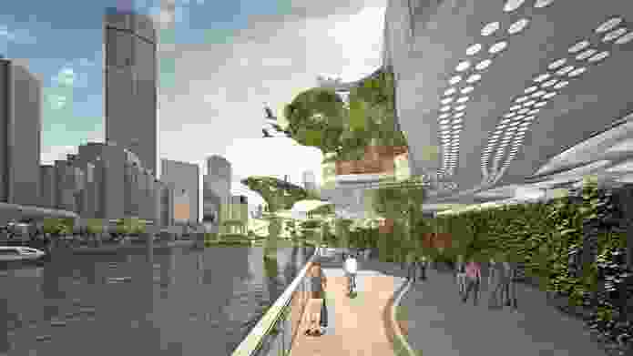 ARM Architecture: The riverwalk cycle path.