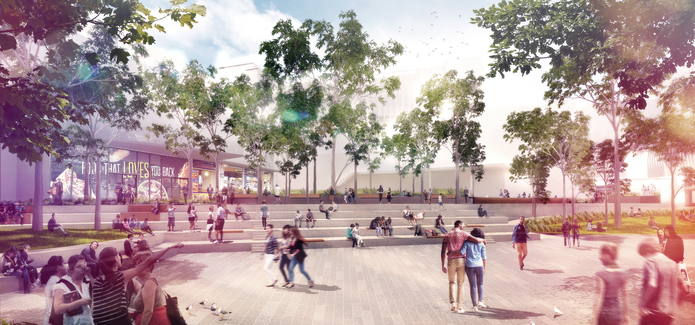 A view of the proposed outdoor amphitheatre.