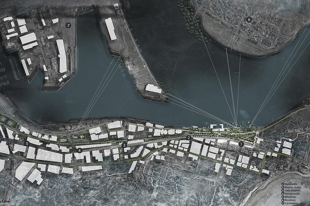 [Water]way Station by Sarah Fayad is an urban renewal concept for Newcastle, Australia.