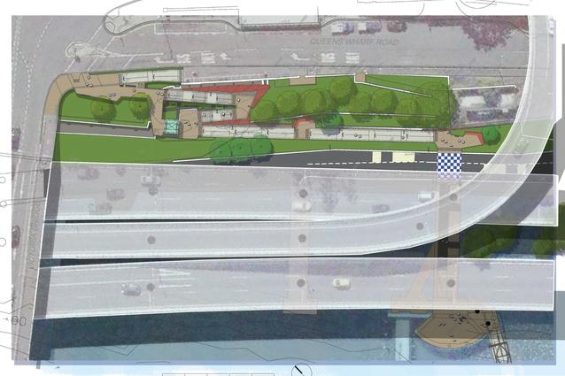 North Quay Ferry Wharf site plan.