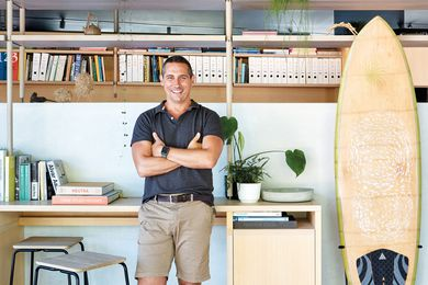 Dan Sparks at the Sparks Architects studio in Peregian Beach on Queensland's Sunshine Coast.