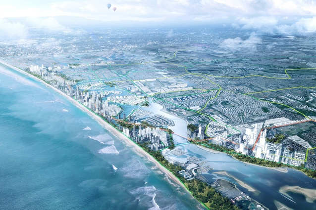 GCRT-2031 (Gold Coast Transit Corridor Study) by Hassell.