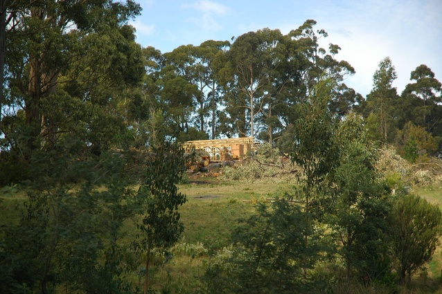 The 60k House is being constructed on a bushy 1.5-hectare block of land in Flowerpot, a coastal area 43 kilometres south of Hobart.