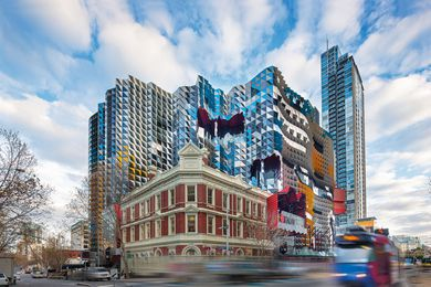 "Swanston Academic Building is a new addition to RMIT University's collection of buildings along Melbourne's  Swanston street, which form ""a city within a city."""
