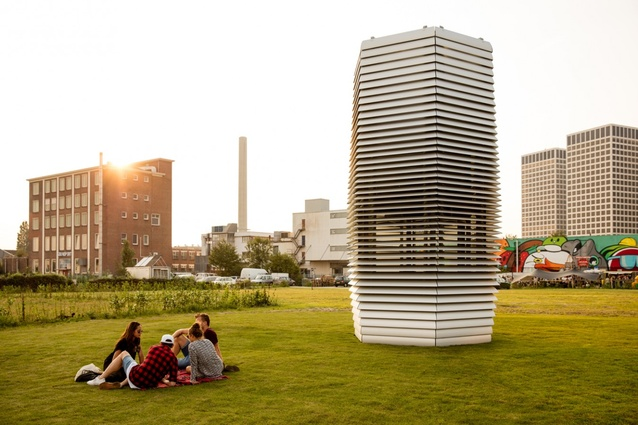 "The Dutch city of Rotterdam is home to the world's first ""vacuum cleaner"" structure that turns smog into fresh air."