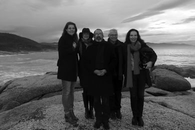 The 2014 National Architecture Awards jury (L–R): Clare Cousins, Lindy Johnson, Justin Hill, Paul Berkemeier, Virginia Kerridge.