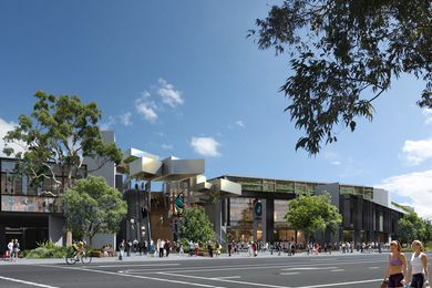 The proposed modifications to the retail and club entrance on Captain Cook Drive.