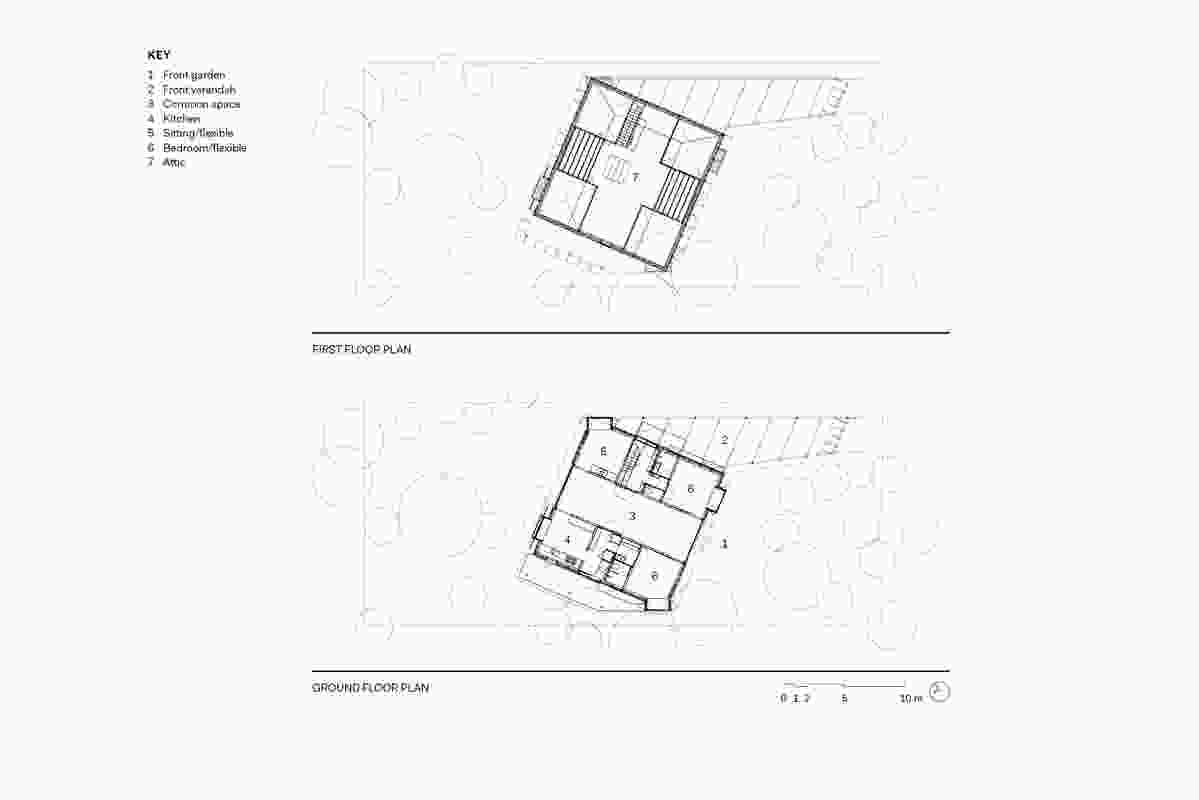 Point Lonsdale House floor plans.