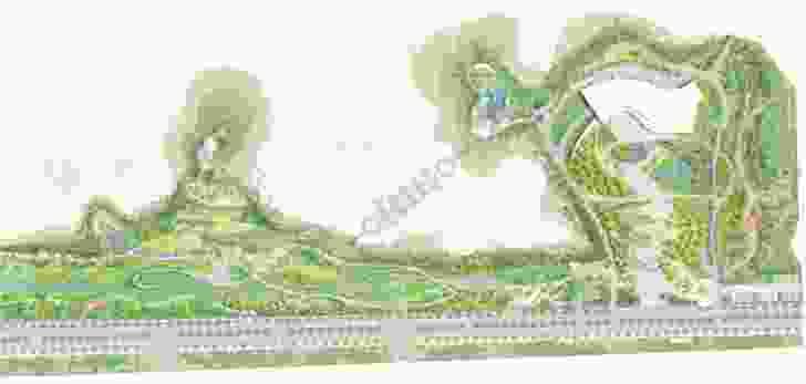 Nanjing Tangshan Geopark Museum site masterplan.