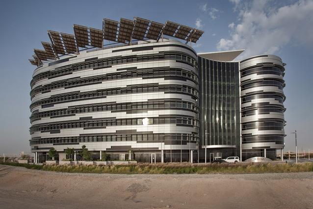 The International Renewable Energy Agency headquarters in Masdar City, Abu Dhabi by Woods Bagot.
