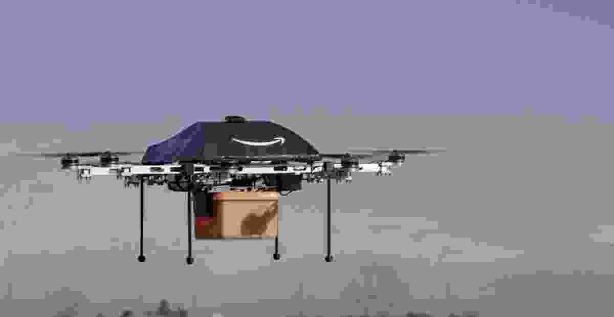 Amazon Prime Air parcel delivery drone.
