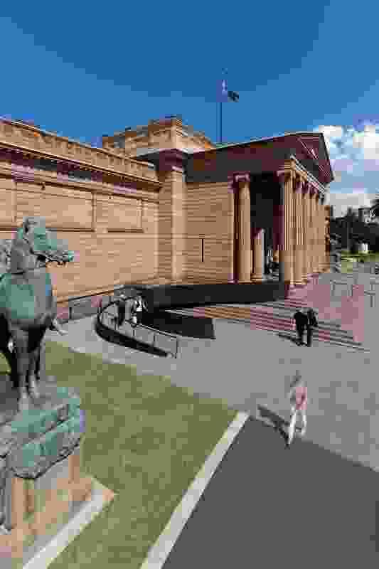 Art Gallery of NSW Forecourt Upgrade by Johnson Pilton Walker.
