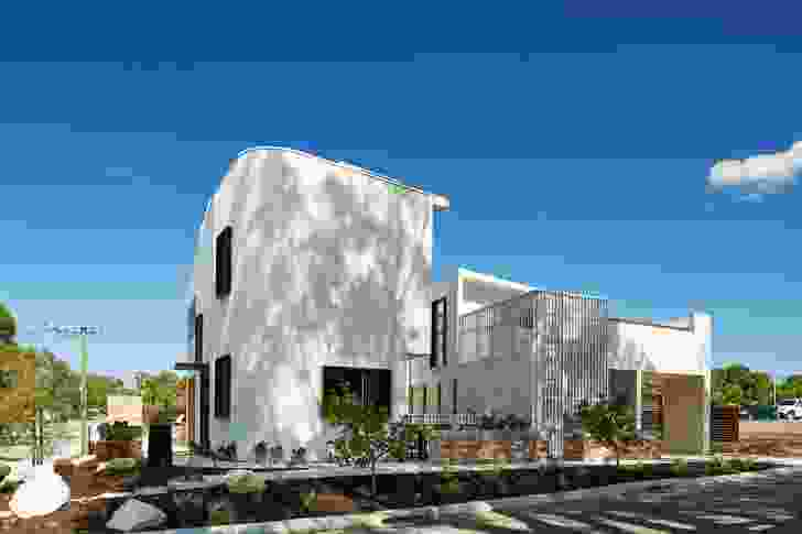 The Gen Y Demonstration Housing Project designed by David Barr Architect comprises three one-bedroom apartments but appears as a single house.