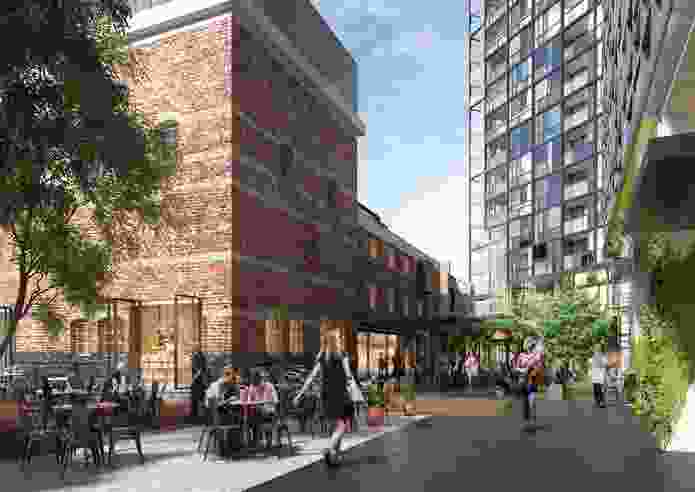The proposed Malt District development designed by Fender Katsalidis Architects and Oculus.