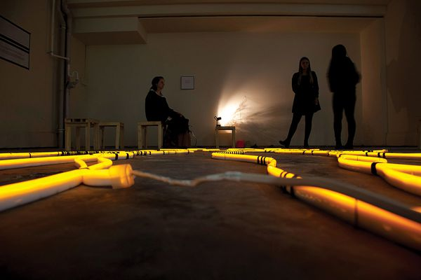 Fluid Taxonomies, a light installation by Philippa Abbott and Simone Bliss at Do Design Space.