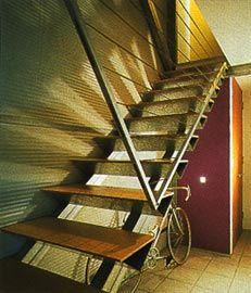 Detail of the interior stair.Image: Jon Linkins