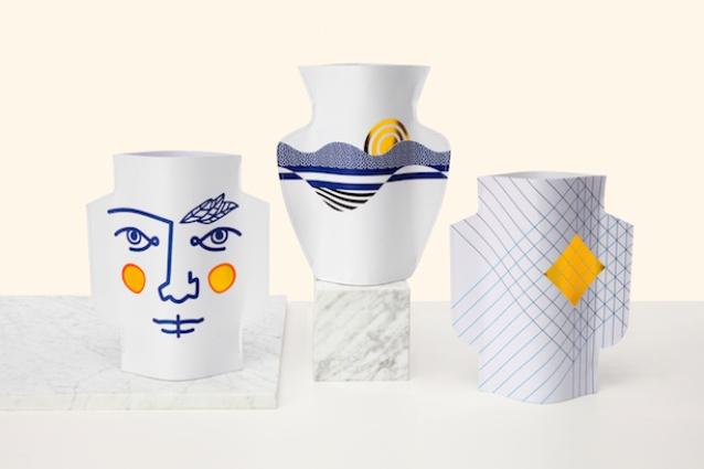 Florero paper vases from Octaevo