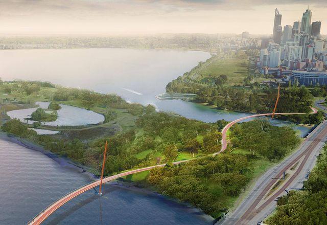 一位外部的土著设计师促进了heiisson岛步行桥的设计合作。