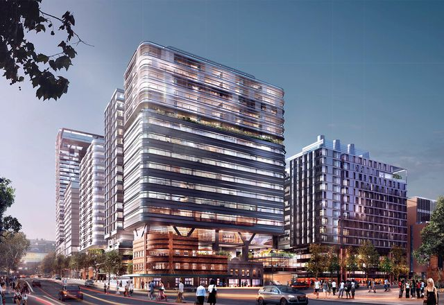Proposed mixed-used development at Sydney's Central Park designed Foster and Partners with local collaborating architects PTW.
