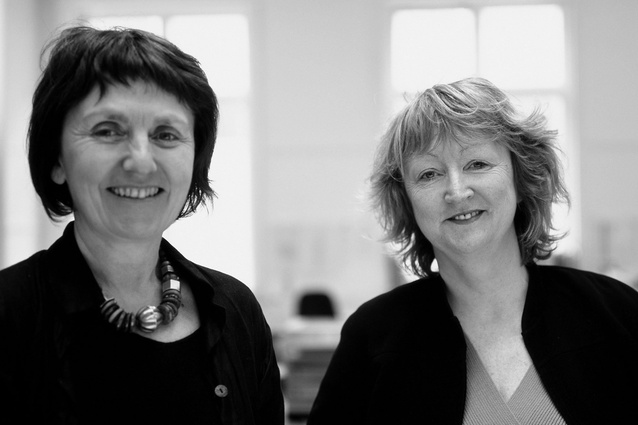 Shelley McNamara (left) and Yvonne Farrell (right) of Grafton Architects.