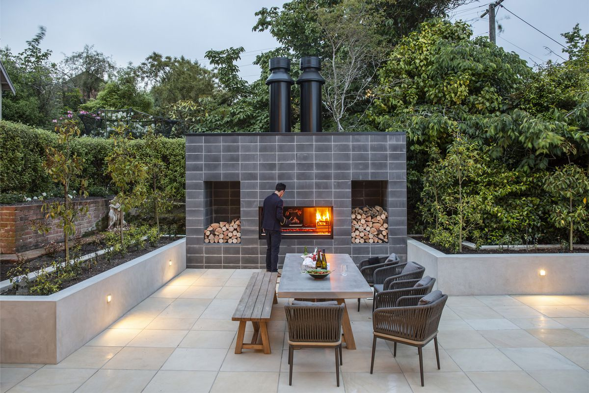 Grilling With Escea S Fireplace Kitchen Architectureau