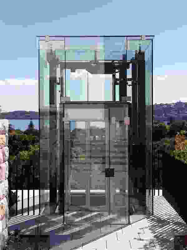 Kharkov House: A glass elevator designed to preserve the spectacular views.