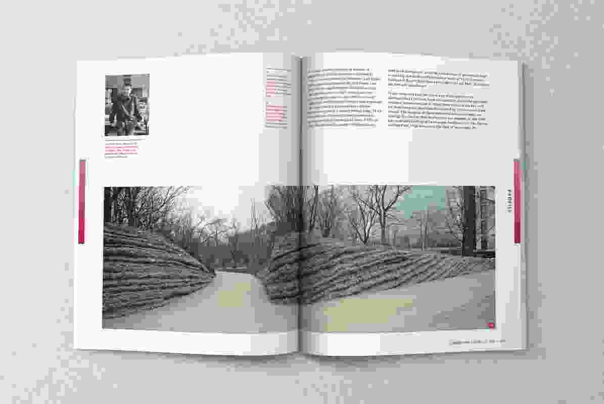 A spread from the pages of the February 2020 issue of Landscape Architecture Australia.