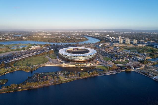 Optus Stadium by Hassell.