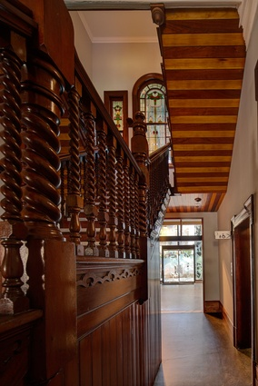 Restored timberwork of the original staircase.