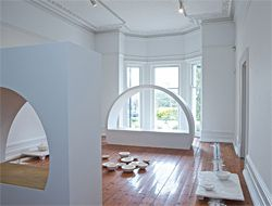Interior Castle, a collaboration between Greg Burgess and sculptor Elizabeth Presa on the installation at Linden – Centre for Contemporary Arts.