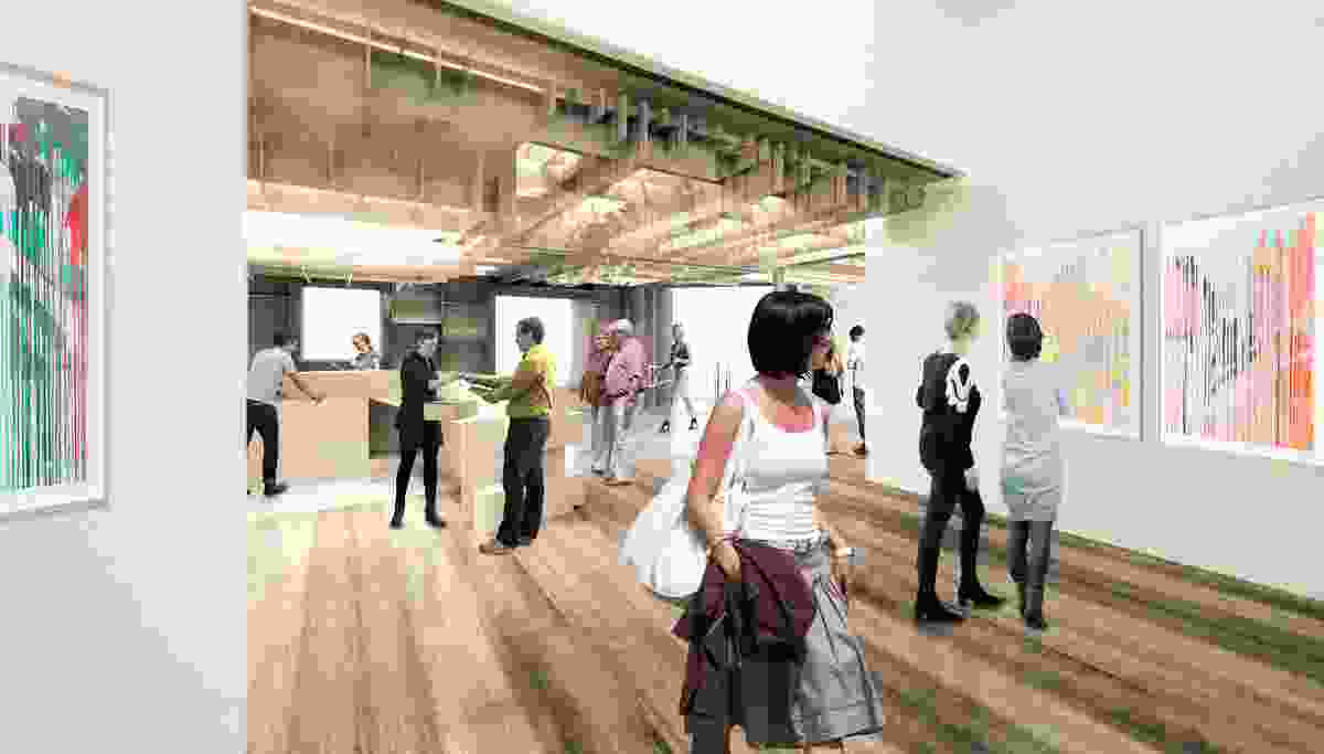 The proposed refurbishment of Latrobe Regional Gallery by NAAU Studio will feature parametrically designed timber ceiling.