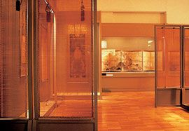 Exhibition design for the Masterpieces from the Idemitsu Collection exhibition from Tokyo, Australian tour, 1983.