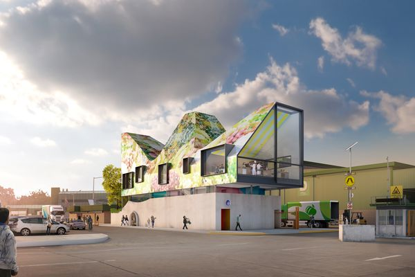 The proposed new cooking school at Sydney Markets in Flemington designed by Durbach Block Jaggers.