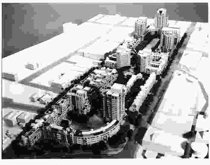 Proposed second stage of the South Yarra Como Project, by the South Yarra Collaborative: Denton Corker Marshall, Daryl Jackson, Robert Peck HK, Godfrey Spowers and Graham Shaw. Only stage one of the project was completed.