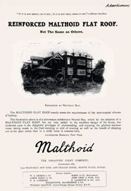 A correlation of interest between journal and advertiser promoting the flat roof, 1908.