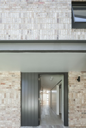 Recycled bricks seen at House Maher by Tribe Studio.