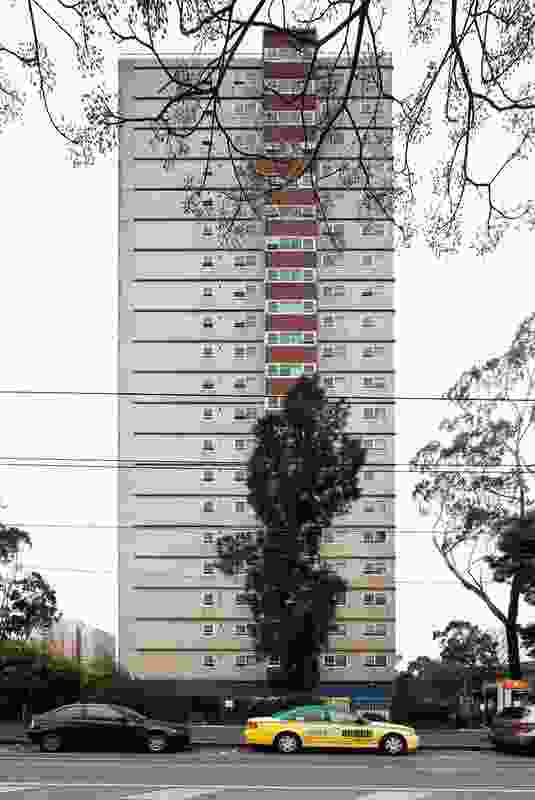 A high-rise estate, constructed during the 1960s by the Housing Commission of Victoria.