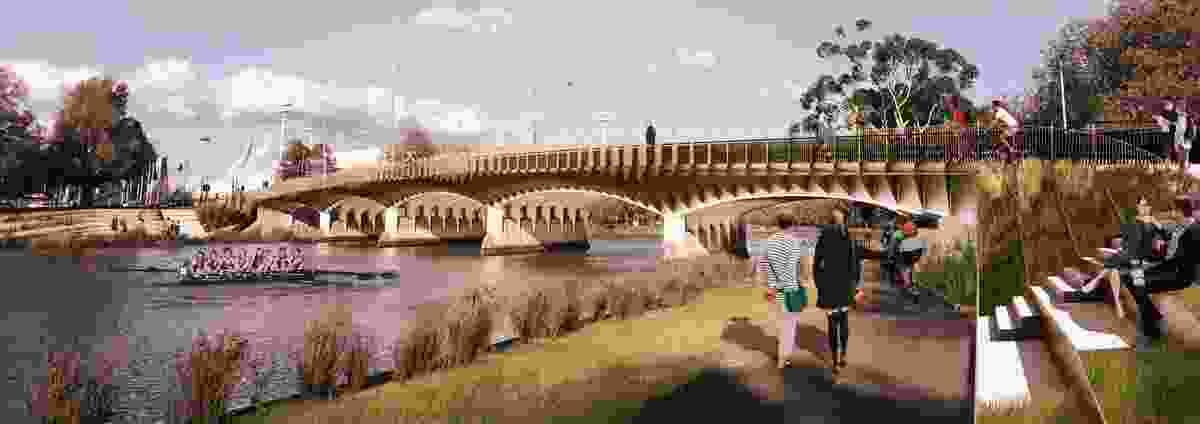 Design for Swan Street Bridge by BKK Architects.
