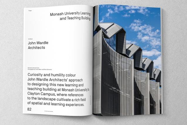 Monash University Learning and Teaching Building designed by John Wardle Architects.