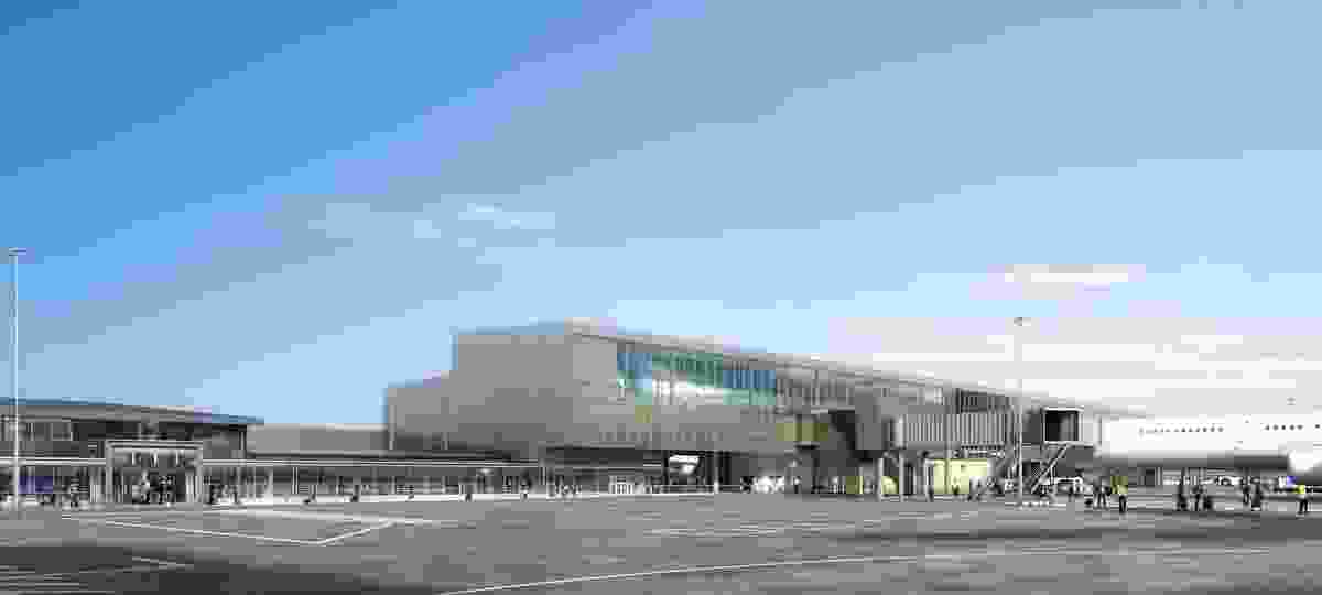 The proposed Gold Coast Airport expansion designed by Hassell.