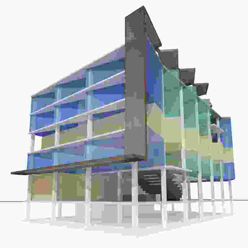 A concept scheme for a vertical school.