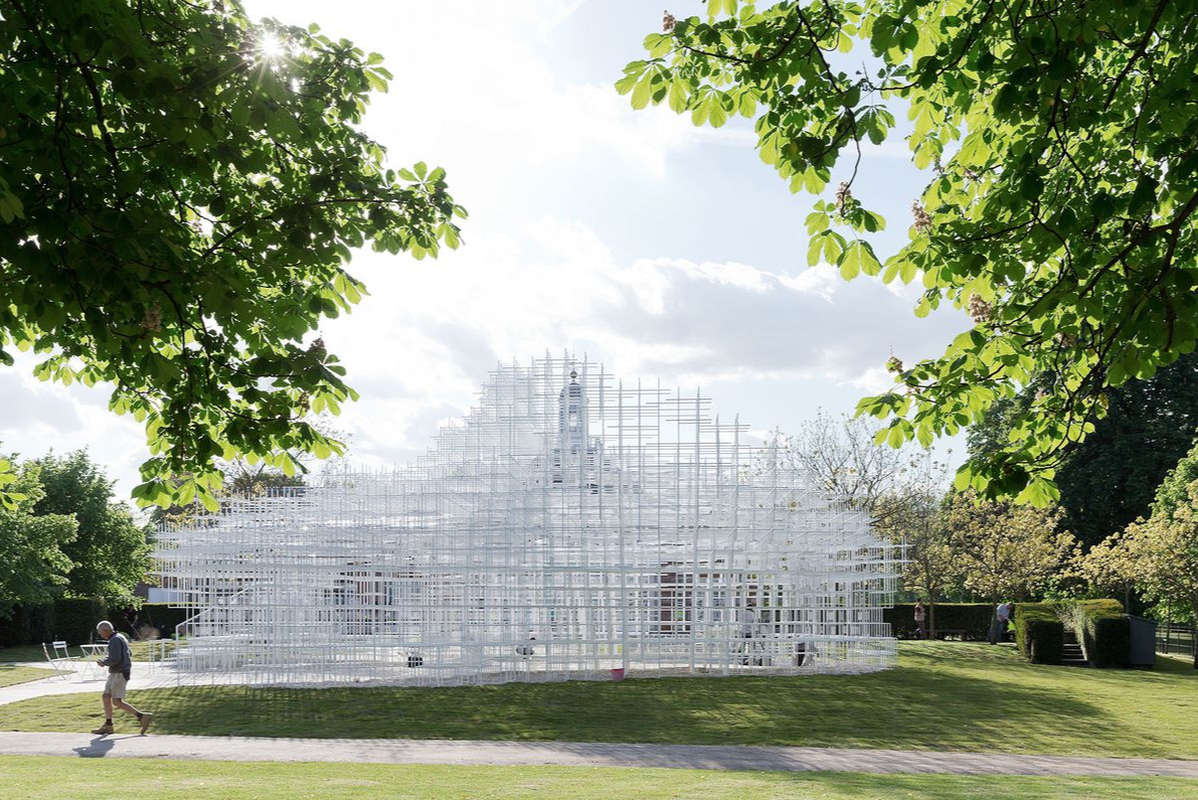 The cloud-like Serpentine Pavilion by Sou Fujimoto Architects, 2013.