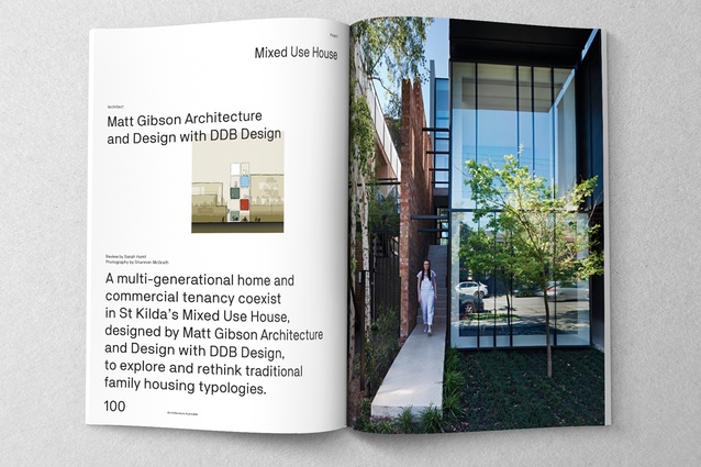 Mixed Use House designed by Matt Gibson Architecture and Design with DDB Design.